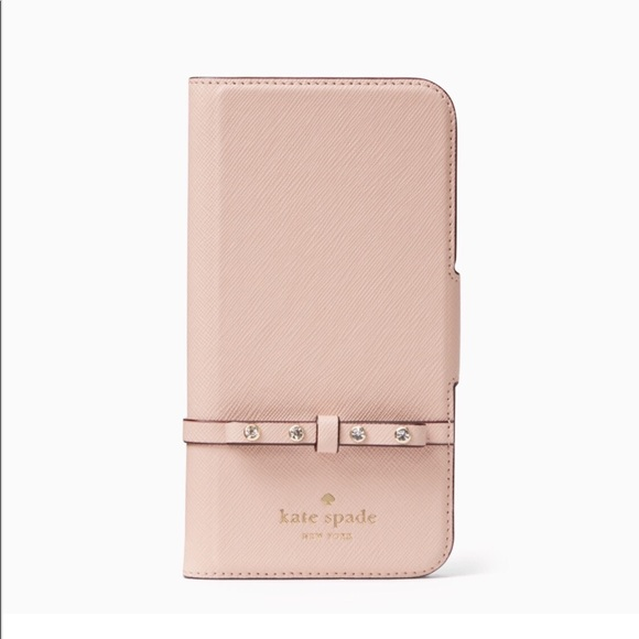 best service fd137 43383 Kate Spade Elliott Street Folio iPhone X Case NWT